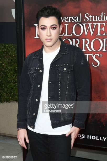 Beauty influencer Manny Gutierrez attends Universal Studios Halloween Horror Nights Opening Night Arrivals at Universal Studios Hollywood on...