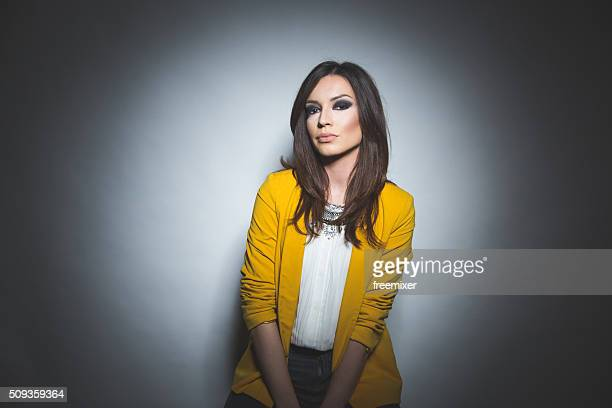 beauty is being the best i can be - yellow blazer stock photos and pictures
