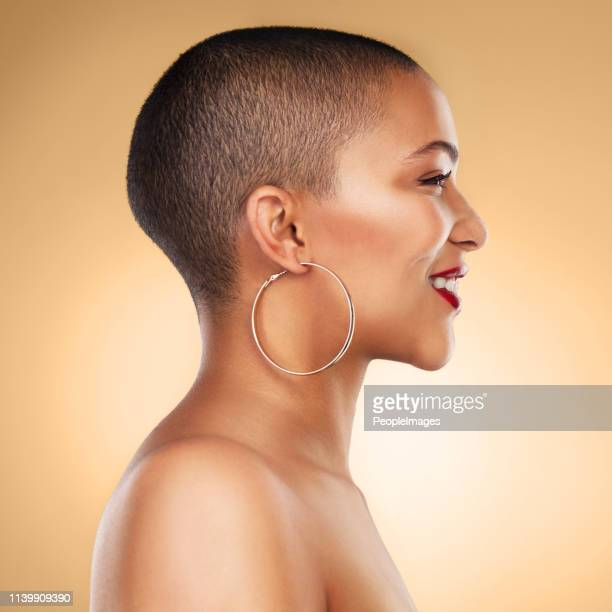 beauty is being the best possible version of yourself - hoop earring stock pictures, royalty-free photos & images