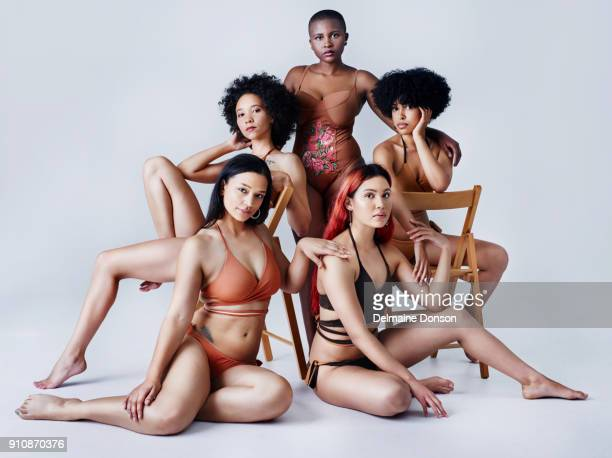 beauty is best when it's natural - voluptuous black women stock photos and pictures
