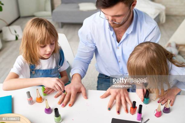 Beauty lesson from little nail masters
