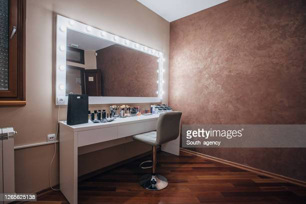 beauty make up salon - backstage stock pictures, royalty-free photos & images