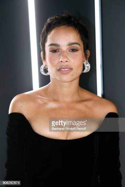 Beauty Makeup Ambassadress Zoe Kravitz attends the YSL Beauty Hotel event during Paris Fashion Week Menswear Fall/Winter 20182019 on January 17 2018...