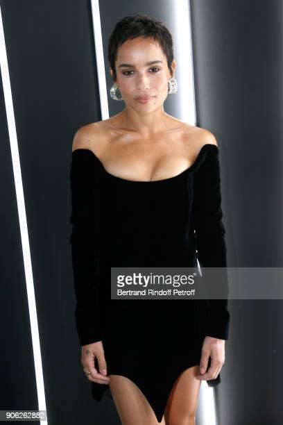 Beauty Makeup Ambassadress Zoe Kravitz attends the 'YSL Beauty Hotel' event during Paris Fashion Week Menswear Fall/Winter 20182019 on January 17...