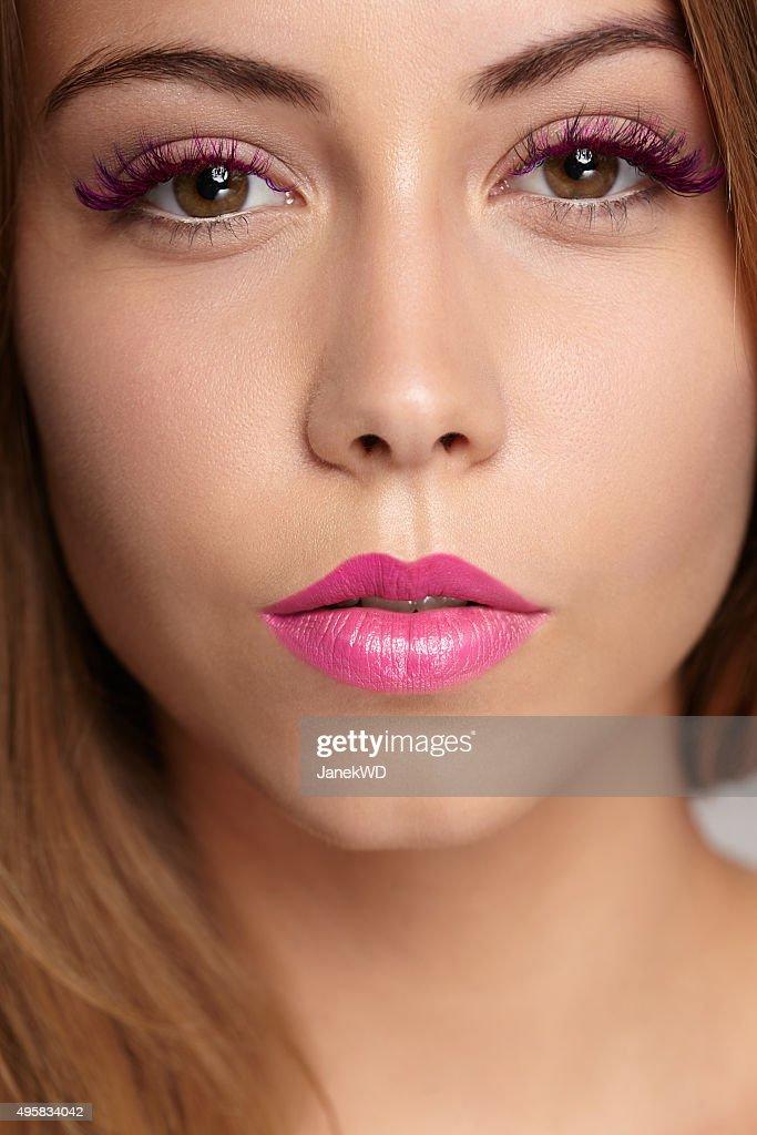 beauty makeup closeup : Stock Photo