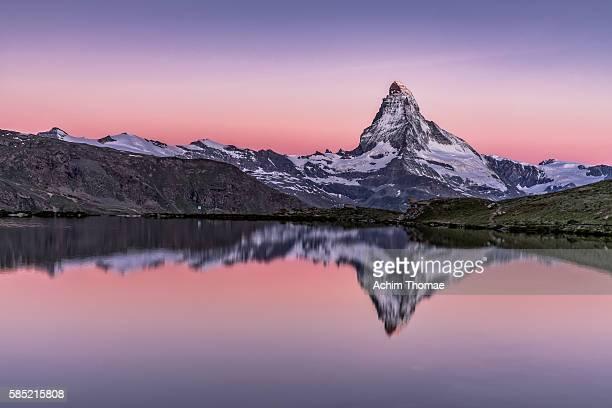 Beauty of nature at Lake Stellisee, Zermatt, Switzerland