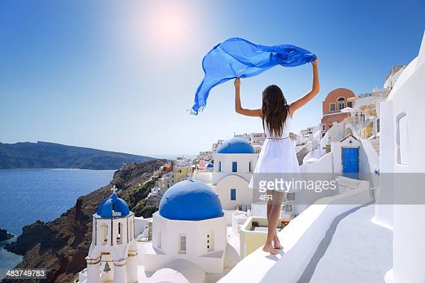 beauty of santorini - greece stock pictures, royalty-free photos & images