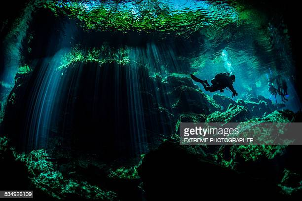 Beauty of underwater caves