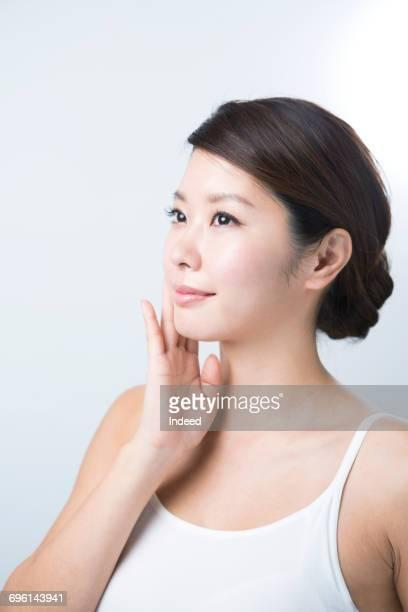 beauty of young woman - cami fotografías e imágenes de stock