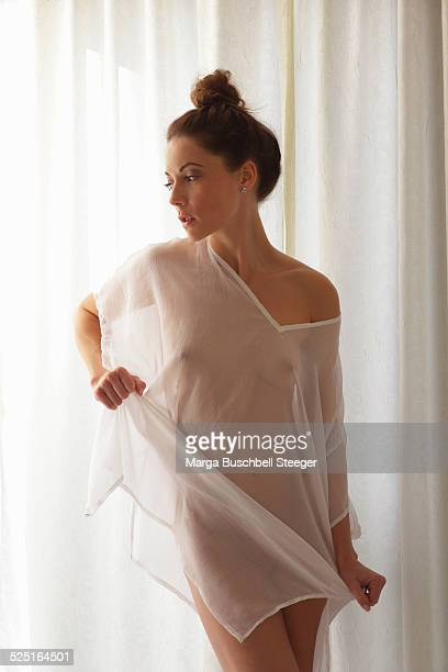 beauty - women in see through dresses stock photos and pictures