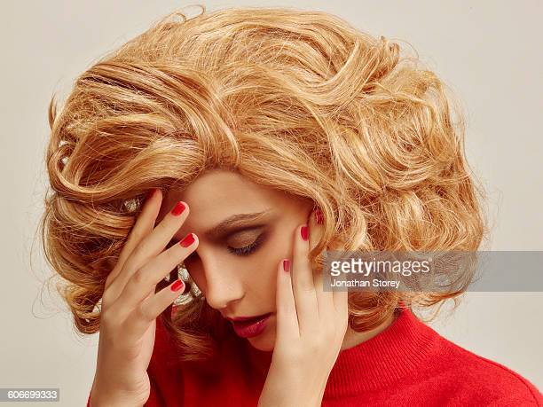 beauty - big hair stock pictures, royalty-free photos & images