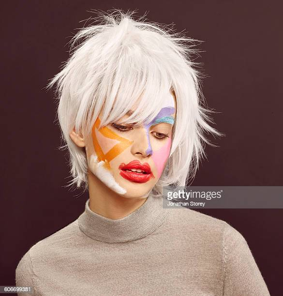 beauty - body paint stock pictures, royalty-free photos & images