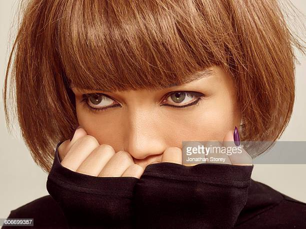 beauty - polo neck stock pictures, royalty-free photos & images