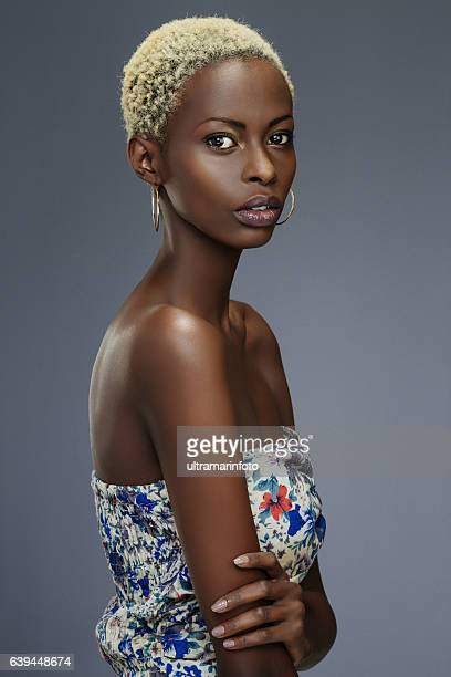 Beauty portrait  Fashion  Beautiful african ethnicity  young women  dressed casual