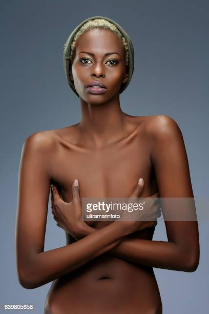 beauty portrait  fashion  beautiful african ethnicity  young women - skinny black woman stock photos and pictures