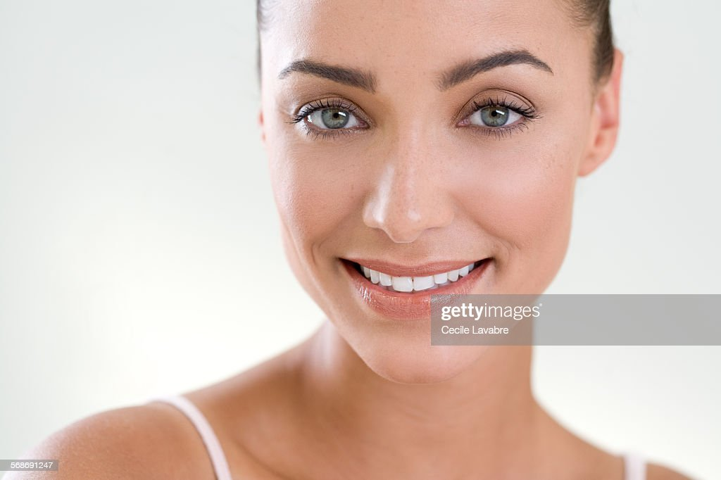 Beauty portrait of a smiling woman : Stock Photo