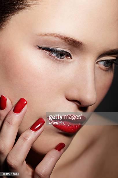 Portrait d'une femme de beauté