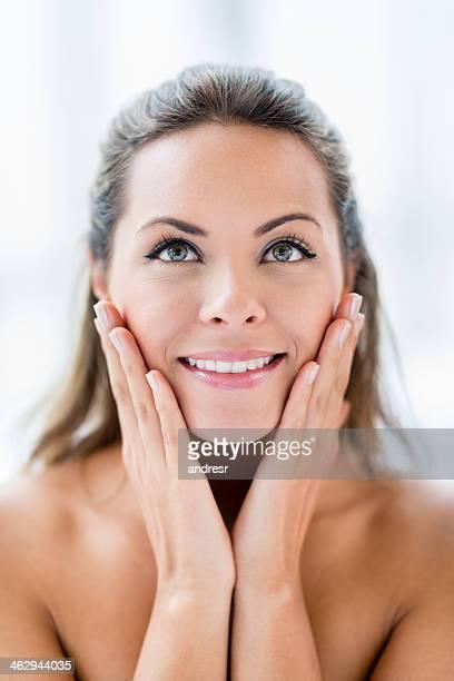 Retrato de una mujer de belleza