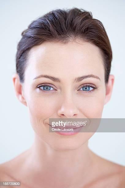 Beauty portrait of a woman smiling