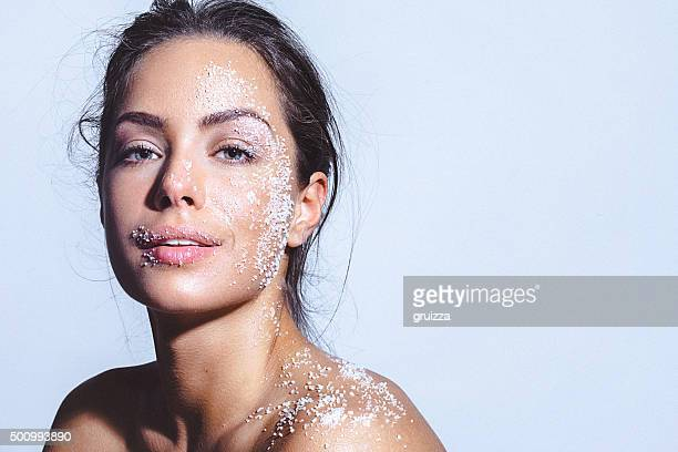 Beauty portrait of a young woman with clean healthy skin