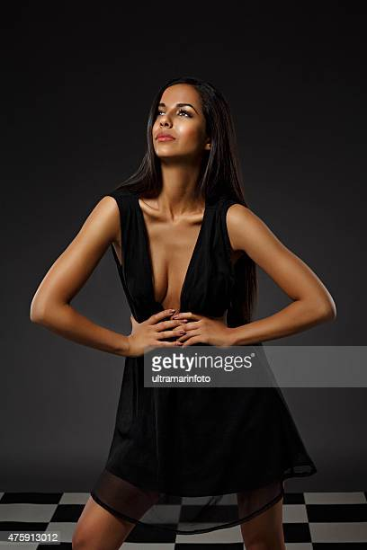 Beauty portrait of Beautiful  mixed-race young  woman with long hair
