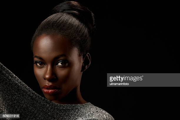 Beauty portrait of beautiful  young african woman