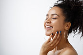 Beauty portrait of happy young woman