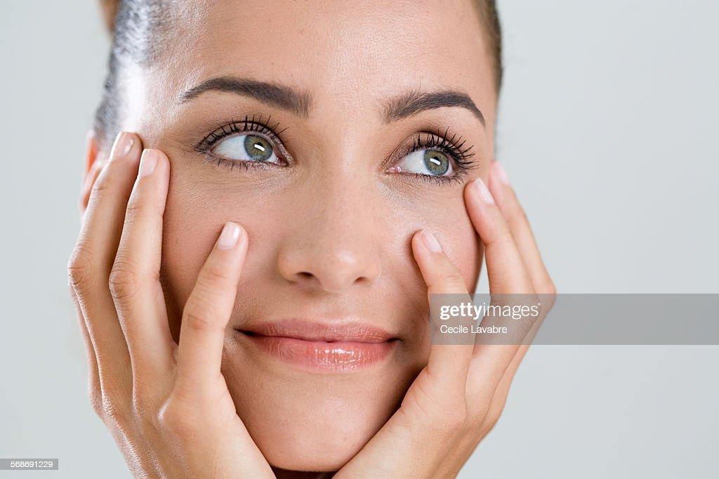 Beauty portrait of smiling woman : Stock Photo