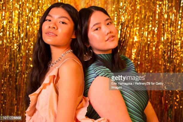 Beauty Portrait of Two Young Confident Women