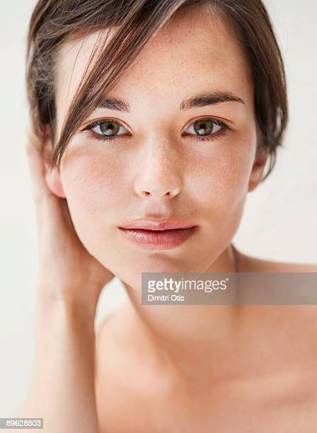 Beauty portrait of young brunette woman