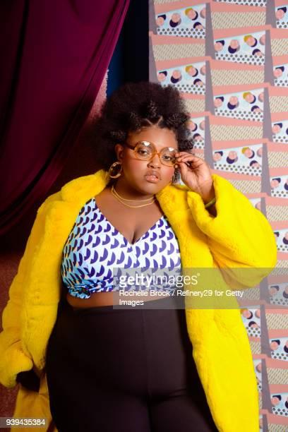 Beauty Portrait of Young Confident Woman with Bantu Knots
