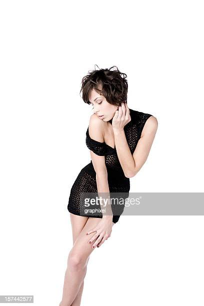 beauty portrait of young woman - graphixel stock pictures, royalty-free photos & images