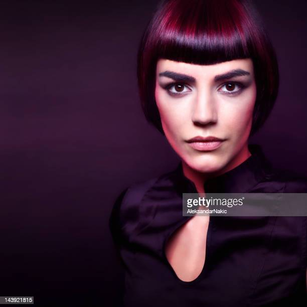 beauty portrait - fringe dress stock pictures, royalty-free photos & images