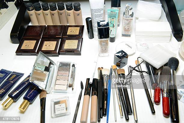 Beauty products are displayed backstage ahead of the Damir Doma show during the Milan Men's Fashion Week Spring/Summer 2016 on June 22 2015 in Milan...