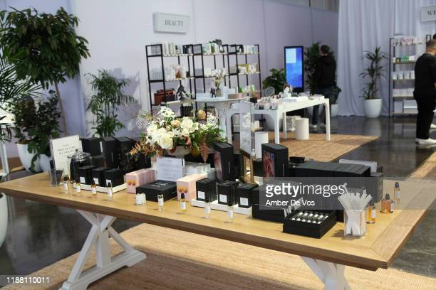 Beauty products are seen during the In goop Health Summit San Francisco 2019 at Craneway Pavilion on November 16, 2019 in Richmond, California.