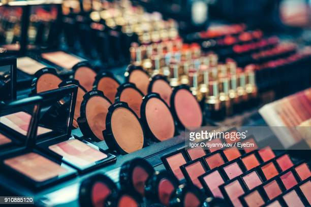 beauty products for sale at market - collection stock pictures, royalty-free photos & images