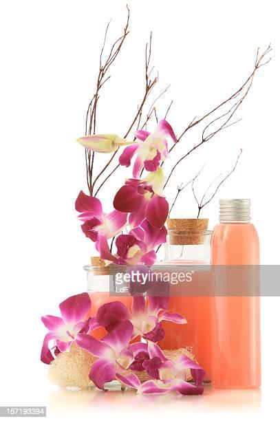 Schönheits-Produkte isoliert auf weiss