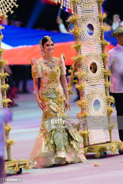 Beauty Queen and Miss Universe 2015 Pia Alonzo Wurtzbach muses for the Filipino delegation at the Opening ceremony of the Southeast Asian Games at...