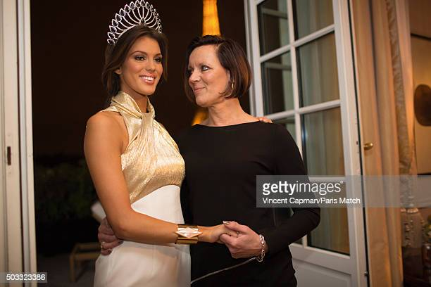 Beauty queen and winner of Miss France 2016 Iris Mittenaere is photographed with her mother for Paris Match on December 20 2015 in Paris France