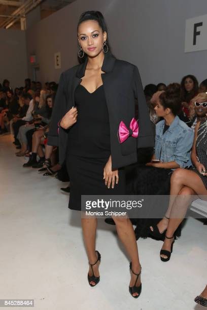 Beauty queen Kara McCullough attends the Dan Liu fashion show during New York Fashion Week The Shows at Gallery 3 Skylight Clarkson Sq on September...