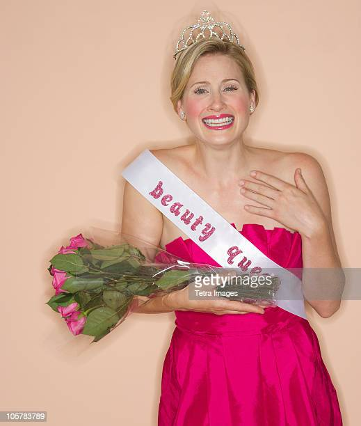 beauty queen - tiara stock pictures, royalty-free photos & images