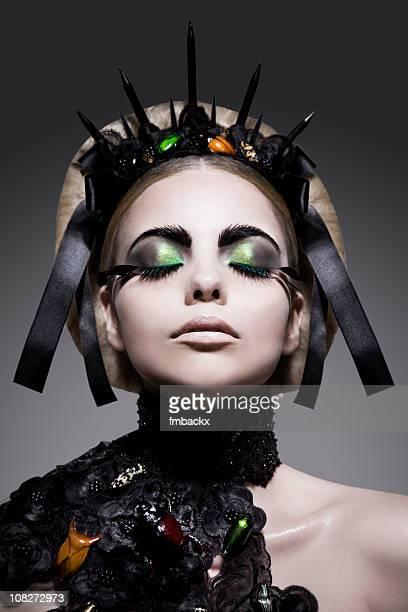 beauty queen - koningin koninklijk persoon stockfoto's en -beelden