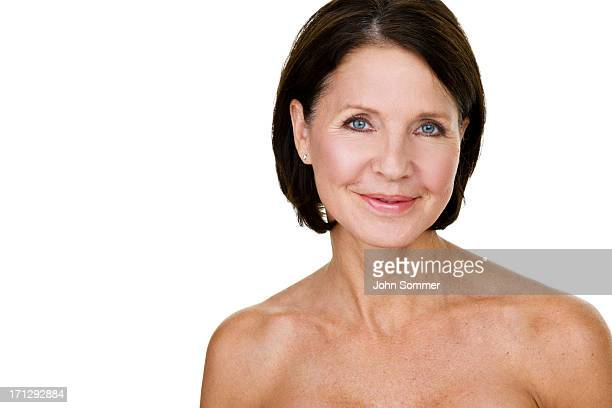 beauty shop of a mature woman - beautiful bare women stock photos and pictures