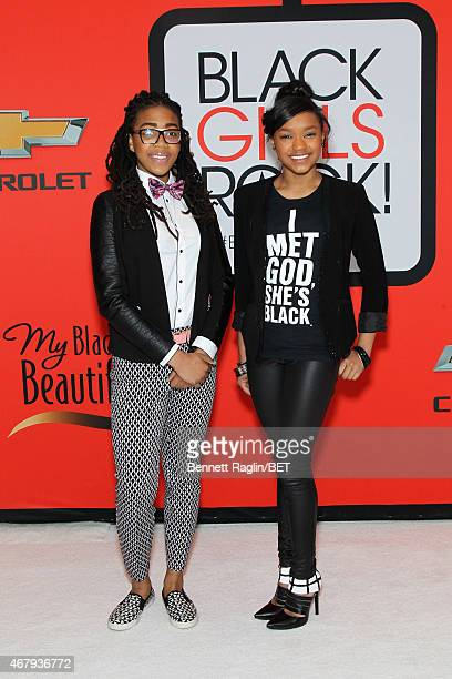 Beauty the Beatz and actress Eden DuncanSmith attend the BET's Black Girls Rock Red Carpet sponsored by Chevrolet at NJPAC – Prudential Hall on March...