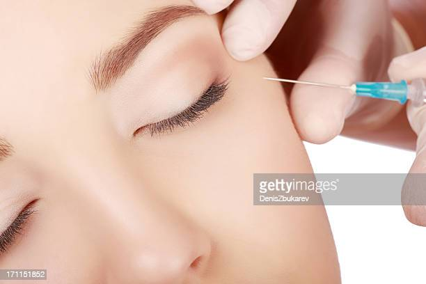 beauty treatment - botox stock pictures, royalty-free photos & images