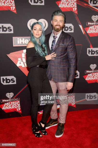 Beauty vlogger Kristen Leanne and Ryan Morgan attend the 2017 iHeartRadio Music Awards which broadcast live on Turner's TBS TNT and truTV at The...
