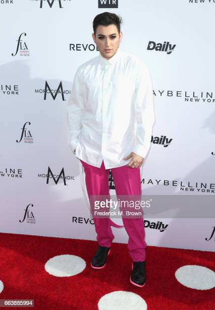 Beauty vlogger Manny Mua attends the Daily Front Row's 3rd Annual Fashion Los Angeles Awards at Sunset Tower Hotel on April 2 2017 in West Hollywood...