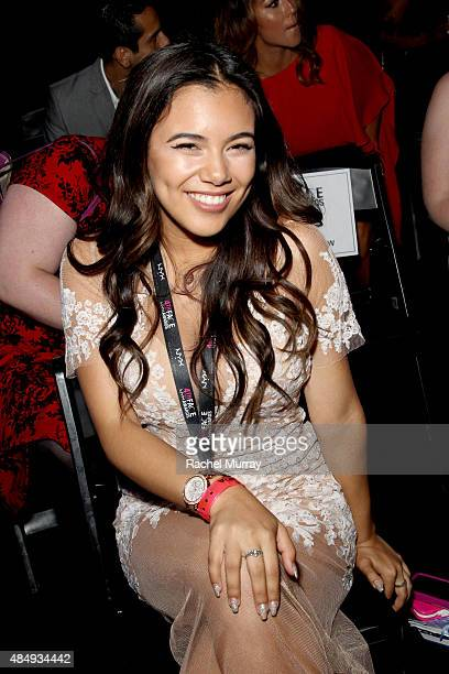 Beauty Vlogger of the Year Adelaine Morin attends the 4th Annual NYX FACE Awards at Club Nokia on August 22 2015 in Los Angeles California
