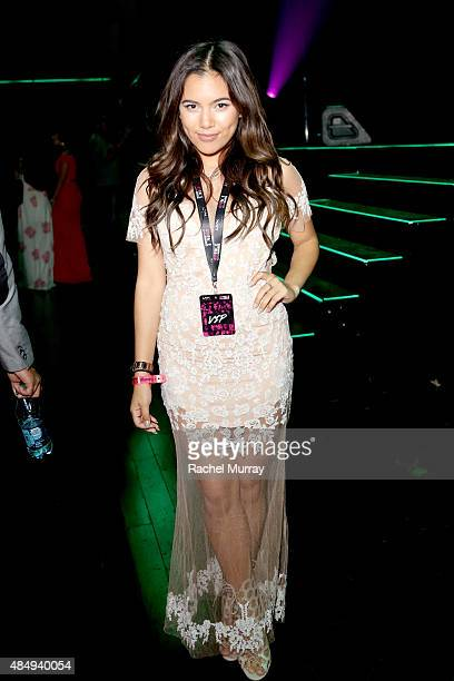 Beauty Vlogger of the Year Award winner Adelaine Morin attends the 4th Annual NYX FACE Awards at Club Nokia on August 22 2015 in Los Angeles...