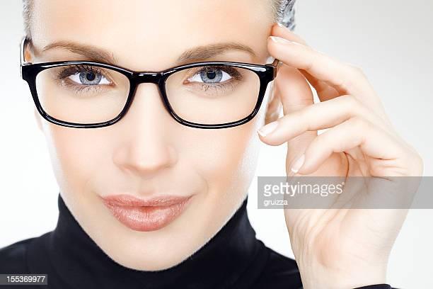 Schönheit mit eyeglasses
